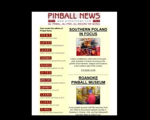 strona główna Pinball News z moim artykułem
